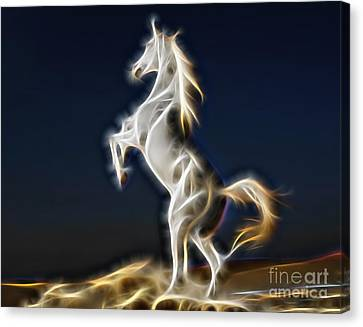 Lightning Canvas Print by Marvin Blaine