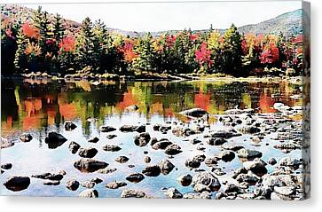 Canvas Print featuring the photograph Lily Pond, Kancamagus Highway - New Hampshire  by Joseph Hendrix