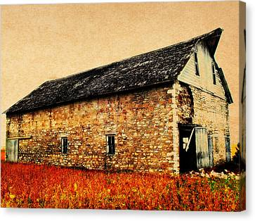 Lime Stone Barn Canvas Print by Julie Hamilton
