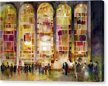 Lincoln Center Canvas Print by Dorrie Rifkin