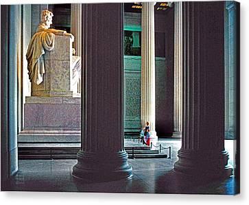Lincoln Memorial Canvas Print by Dennis Cox