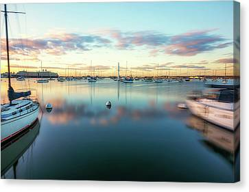 Line Of Clouds Canvas Print by Joseph S Giacalone
