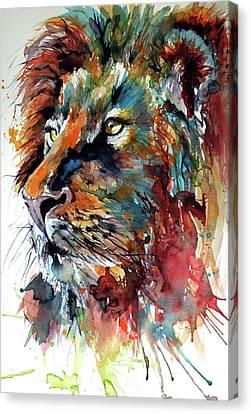 Lion Canvas Print by Kovacs Anna Brigitta