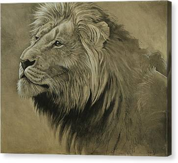 Lion Portrait Canvas Print by Aaron Blaise
