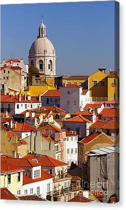 Lisbon View Canvas Print by Carlos Caetano