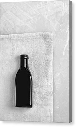 Canvas Print featuring the photograph Little Black Bottle  by Andrey  Godyaykin