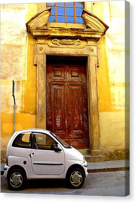 Italian Street Canvas Print - Little Car Of Florence by Jen White