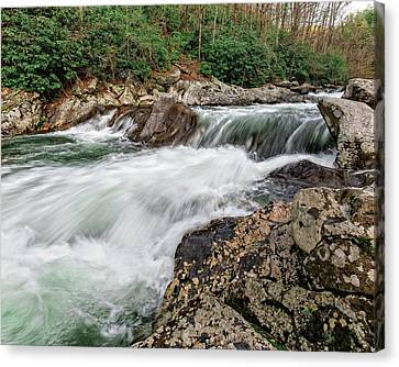 Canvas Print featuring the photograph Little River  by Alan Raasch