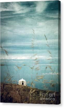 Little White Chapel  Canvas Print by Carlos Caetano