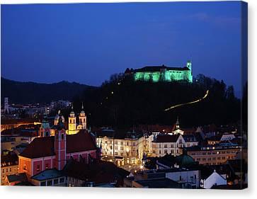 Ljubljana Castle Canvas Print