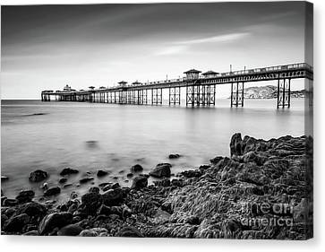 Canvas Print featuring the photograph Llandudno Pier by Adrian Evans