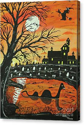 Loch Ness Monster This  Halloween Canvas Print by Jeffrey Koss
