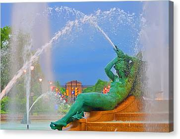 Logan Circle Fountain 1 Canvas Print