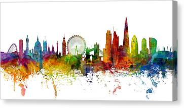 London England Skyline Panoramic Canvas Print by Michael Tompsett