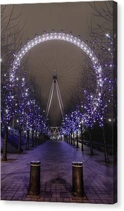 London Eye Canvas Print by Lee-Anne Rafferty-Evans