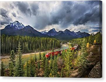 Canvas Print featuring the photograph Long Train Running by John Poon