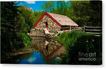 Longfellow's Wayside Inn. Sudbury, Massachusetts. Canvas Print