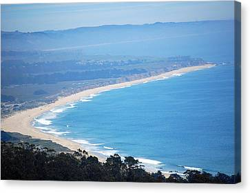 Looking Down On Half Moon Bay  Canvas Print by Carolyn Donnell
