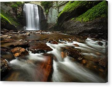Looking Glass Falls Canvas Print by Andrew Soundarajan