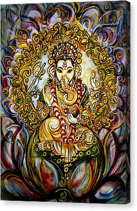 Lord Ganesha Canvas Print by Harsh Malik