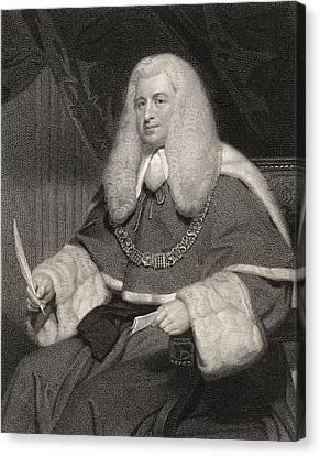 Lord Lloyd Kenyon 1st Baron Kenyon Canvas Print by Vintage Design Pics