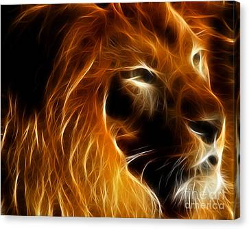 Lord Of The Jungle Canvas Print by Wingsdomain Art and Photography