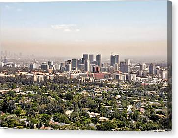 Los Angeles California - Glitter And Trouble Canvas Print by Christine Till