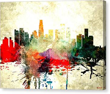 Los Angeles Canvas Print by Daniel Janda
