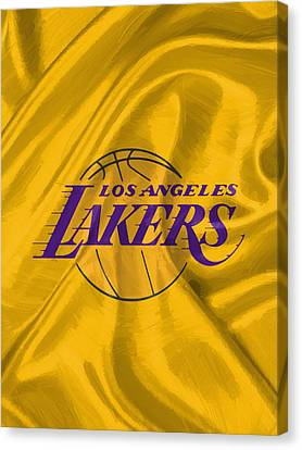 Dunk Canvas Print - Los Angeles Lakers by Afterdarkness