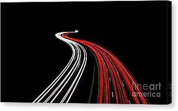 Lost Highway Canvas Print by Evelina Kremsdorf