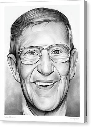 Lou Holtz Canvas Print by Greg Joens