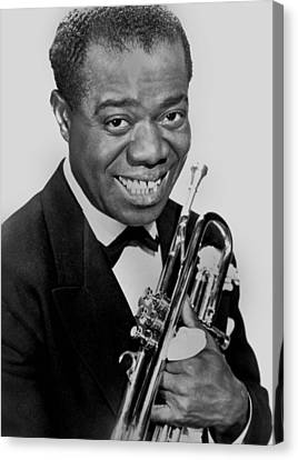 Louis Armstrong Canvas Print by American School