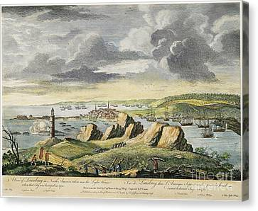 Louisbourg Siege, 1758 Canvas Print by Granger
