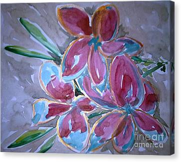 Love Flowers Canvas Print by Baljit Chadha