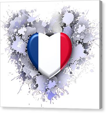 Love To France. Canvas Print by Alberto RuiZ