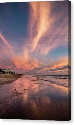 Canvas Print featuring the photograph Low Tide Mirror by Debra and Dave Vanderlaan