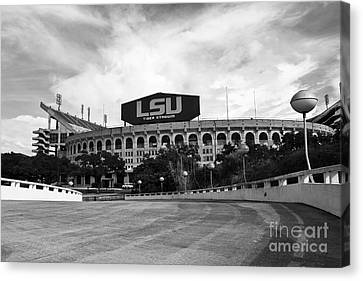 Lsu Tiger Stadium Canvas Print by Scott Pellegrin