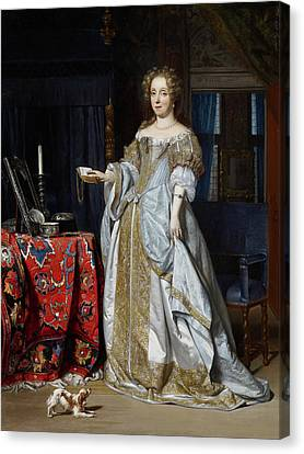 Candle Stand Canvas Print - Lucia Wijbrants by Gabriel Metsu