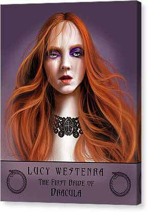 Lucy Westenra Canvas Print by James Christopher Hill