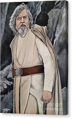Luke Skywalker Canvas Print by Tom Carlton