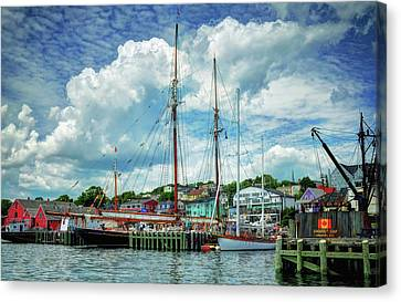 Canvas Print featuring the photograph Lunenburg Harbor by Rodney Campbell