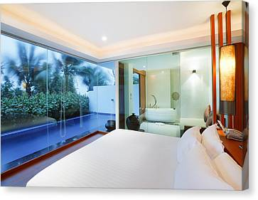 Luxury Bedroom Canvas Print by Setsiri Silapasuwanchai