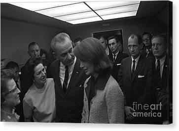 Lyndon B. Johnson Sworn Canvas Print