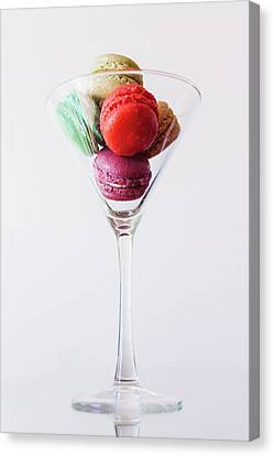 Macarons Canvas Print by Happy Home Artistry