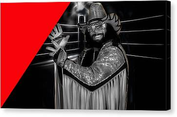 Macho Man Randy Savage Collection Canvas Print by Marvin Blaine