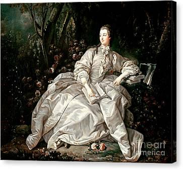 Madame De Pompadour Canvas Print by Francois Boucher