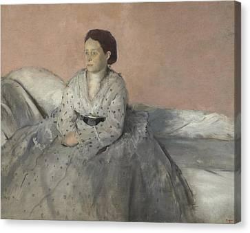Degas Canvas Print - Madame Rene De Gas by Edgar Degas