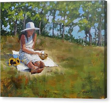Beach Scenes Canvas Print - Madison Study 3 by Laura Lee Zanghetti