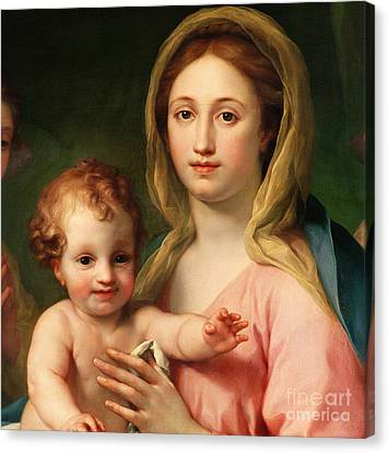 Madonna And Child Canvas Print - Madonna And Child by Anton Raphael Mengs