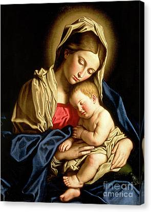 Madonna Canvas Print - Madonna And Child by Il Sassoferrato